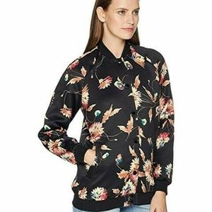 NWT Chaps Floral Bomber Jacket